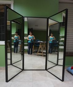 Delightful Finished 3 Way Mirror   Tutorial So You Can Make One Too!