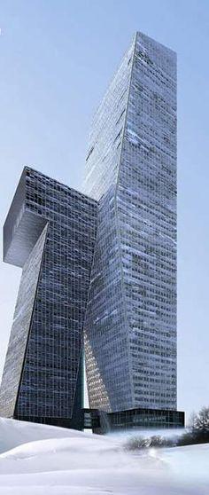 Edificio del seguro, Dalian, China por NDA-diseño.