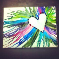 I like the idea of using the broken crayon pieces. Crayon art!