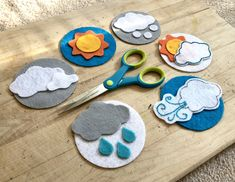 Preschool Weather, Weather Activities, Projects For Kids, Diy For Kids, Gifts For Kids, Infant Activities, Preschool Activities, What's The Weather Today, Flannel Board Stories