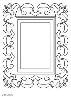 Picture frame....print it...color...great idea for kids art!