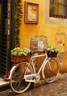 bici con flores en la ciudad