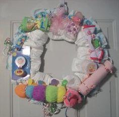 Custom Diaper Wreaths  Price: $34.99