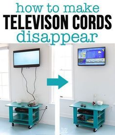 Flat screen and wall mounted TV hanging tips. How to hide cords on a wall mounted television. with In My Own Style