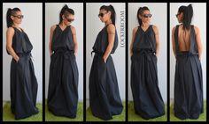 Maxi dress / Black Long Dress / Black Oversize dress/ Woman black dress by ClothesByLockerRoom on Etsy https://www.etsy.com/listing/207704683/maxi-dress-black-long-dress-black