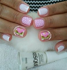 Gel Uv Nails, Pink Nails, Cute Nails, Pretty Nails, Snacks For Work, Healthy Work Snacks, Nail Photos, Manicure E Pedicure, Craft Videos