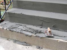 How to fix concrete steps (Concrete Porch Step) Concrete Projects, Outdoor Projects, Home Projects, Outdoor Decor, Repairing Concrete Steps, Cement Steps, Concrete Porch, Concrete Stairs, Porch Steps