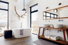 Salle de bains nature et épurée | Décormag