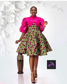 50 Pictures - Stunning Ankara Fashion Dresses We Are Currently Vibing With 23 Ankara Dress Styles, Latest Ankara Styles, African Fashion Dresses, African Fabric, African Women, Fashion Pictures, High Neck Dress, Classy, Contemporary