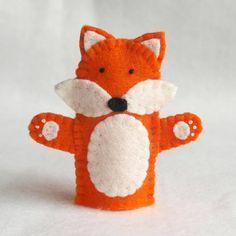 Fox felt finger puppet felt finger puppet by KRFingerPuppets