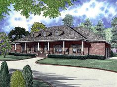 House Plan 61265 | Colonial   European    Plan with 2804 Sq. Ft., 4 Bedrooms, 3 Bathrooms, 3 Car Garage House Plans One Story, House Plans And More, Dream House Plans, Small House Plans, Dream Houses, French Country House Plans, Southern House Plans, European House Plans, European Plan