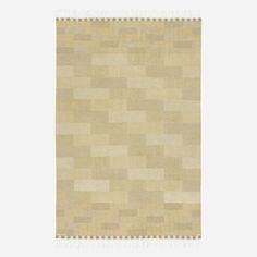 Lot 189: Marianne Richter. Muren flatweave carpet. 1971, hand-woven wool. 6'5