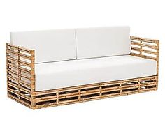 Divano letto in canna manao Relax naturale - 187x71x74 cm