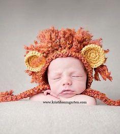ILC Crochet LION MANE Baby Boy Hat Photo Prop ~ Newborn, 0-3, 3-6, 6-12, 1T-2T