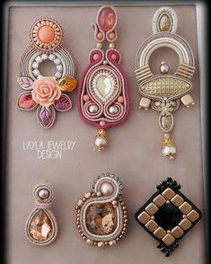 Big earrings Blue earrings Handmade jewelry for woman Rose quartz earrings Long earrings for woman Embroidered earrings Present for friend - Custom Jewelry Ideas Beaded Jewelry Patterns, Fabric Jewelry, Soutache Earrings, Women's Earrings, Earrings Handmade, Handmade Jewelry, Fashion Jewelry, Women Jewelry, Necklace Designs
