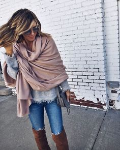 Cozy fall layers.