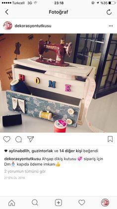 Dekoratif dikiş kutusu satılık