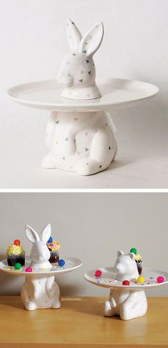 Bunny rabbit cake & dessert plate #product_design