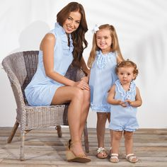 Obsessed with this seersucker Mommy and Me look for Spring! Great idea for easter outfits for the girls.