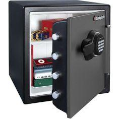 Small Sentry Floor Money Gun Safe Fireproof Lock Box Bedroom Vault Office Shelf