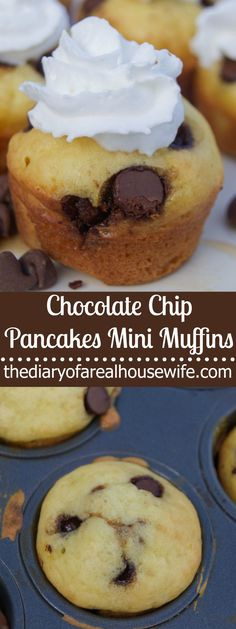 Chocolate Chip Pancakes Mini Muffins. Pancakes for breakfast are always a good idea and these Chocolate Chip Pancakes Mini Muffins are so simple to make and will easily become your favorite pancake recipe.