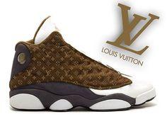 Jordan 13 x Louis Vuitton ------------------------------------ Rare Jordans, Custom Jordans, Nike Shoes, Shoes Sneakers, Jordan Shoes, Jordan 13, Louis Vuitton Shoes, Sneaker Boots, Gucci Men