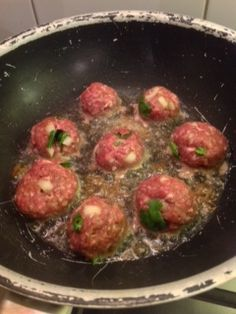 Asian Meatballs with Sweet Chili Sauce - just combine the meatball ingredients to make those, combine the dipping sauce ingredients to make that, and this low-carb meal is all ready for you to enjoy! No Carb Recipes, Chili Recipes, Asian Recipes, Great Recipes, Cooking Recipes, Favorite Recipes, Healthy Recipes, That's A Spicy Meatball, Asian Meatballs