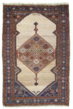 "Antique Persian Serab Village Rug 3'10""x 5'8"""