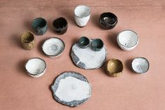 Collection of ceramic tableware by Laura Allen Müller. The collection is inspired by the Japanese Raku tradition. Every item is unique and handcrafted in Copenhagen.