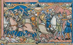 Upper register, Folio 21 recto - The Morgan Crusader Bible of Louis IX or Maciejowski Bible or The Bible of Shah Abbas