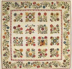 Jacqueline's Album applique Quilt patern by Lori Smith #FromMyHearttoYourHands