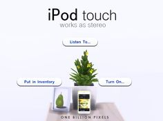 One Billion Pixels: iPod Touch - Functional Stereo (The Sims 4)