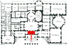 vintage house plan | Using our 1795 plan of the Royal and State apartments of Carlton
