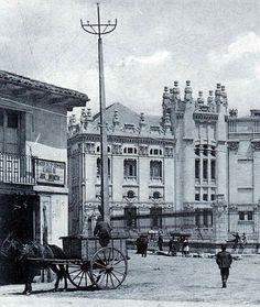 León, fotos antiguas, plaza de santo Domingo.