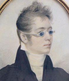 detail ;  Portrait of a Gentleman, by John Wesley Jarvis, 1807,