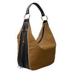 7674d33cb Bolsa Allegra Hobo Lona e Couro é aqui no nosso site! a melhor loja de