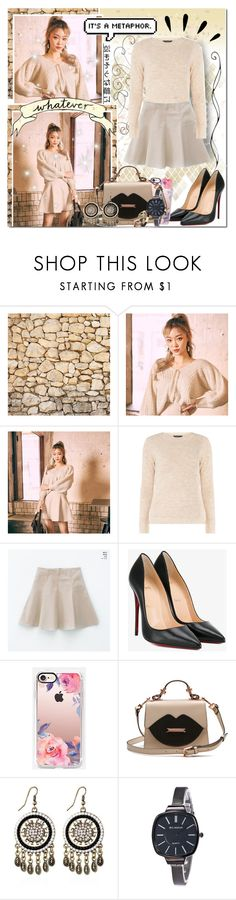 """Natural Beauty // Rosegal"" by angelstylee ❤ liked on Polyvore featuring mel, Christian Louboutin, Casetify and Old Navy"