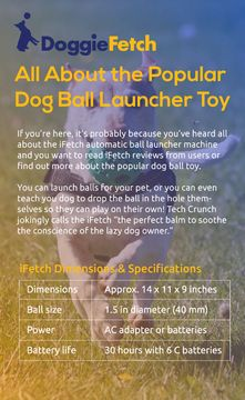 Are you looking for an automated toy to keep your dog busy and having fun? Try the #ifetch. This is a great way to spend time with your dog!