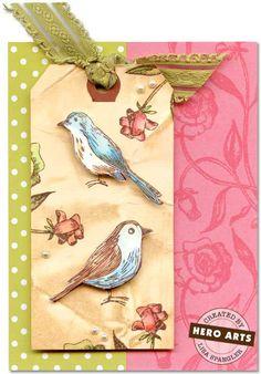 Hero Arts Cardmaking Idea: Bird