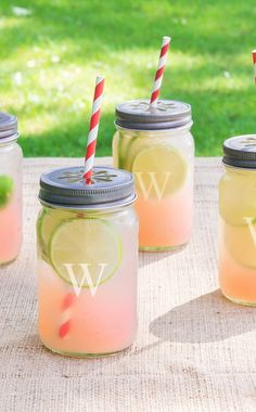 These drinking mason jars are perfect for a New Year's Eve party!