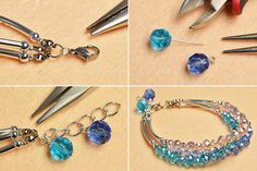 3-steps-to-make-a-three-strand-bracelet-with-crystal-glass-beads-and-silver-bugle-beads-5.jpg (600×400)