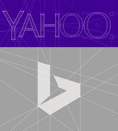 Possibly a new logo design trend, highlighting the geometry & grid of your logomark. I dig it. #branding #yahoo #bing #logo