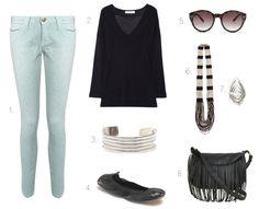 9af2a470f6b6 Mint Denim. Weekend Getaway OutfitsWeekend GetawaysColored ...