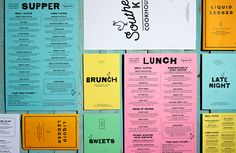 Southern Kin Cookhouse Full Identity by Stebbings Partners - Grits & Grids® Collateral Design, Graphic Design Branding, Stationery Design, Packaging Design, Bakery Packaging, Menu Restaurant Design, Restaurant Identity, Menue Design, Food Menu Design