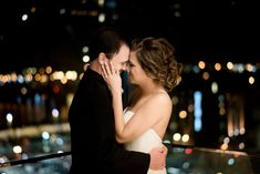Wedding Photos by Saint Louis Wedding Photographer, Ashley Fisher Photography, Bride and Groom Night Portrait at The Four Seasons Wedding Reception in St. Louis, MO #weddingphotography