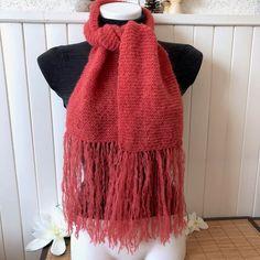1c9deca319e0 Petite écharpe foulard à franges, cravate chaude et douce, Alpaga et Soie,  couleur