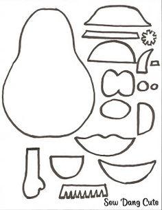1000 images about mr potato head on pinterest for Mr potato head felt template