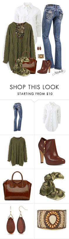 """Bling...Bling"" by michellesherrill ❤ liked on Polyvore featuring rag & bone, Chicwish, Nine West, Givenchy, Borbonese, Kim Rogers, NAKAMOL and 8"