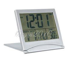 LCD Reveil Digital LED Alarme Horloge Temperature Numérique Fahrenheit Bureau NF | eBay
