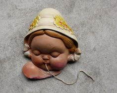 Vintage Chalkware String Holder  Cute by shavingkitsuppplies, $45.00
